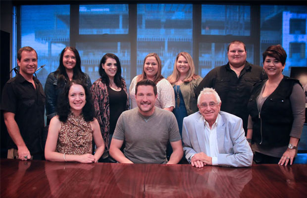 Ty Herndon signing - Pictured L to R: (Back):  Brian Fee, Aura Guadagno, Kat Boggs, Amy Aylward, Nicole Wyatt, Joe Lee, Angela Roland | (Front):  Zinnia Martinez, Ty Herndon, David Kiswiney
