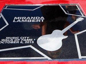 Miranda Lambert - Walk of Fame