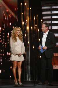 LeAnn Womack and Kiefer Southerland presents Album of The Year (Photo courtesy of Donn Jones-CMA  )