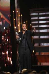 "Luke Bryan wins Entertainer of the Year at ""The 49th Annual CMA Awards,"" live Wednesday, Nov. 4 at the Bridgestone Arena in Nashville and broadcast on the ABC Television Network. (Photo courtesy of Donn Jones-CMA )"