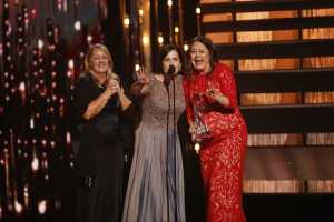 Hillary Lindsey, Lori McKenna, and Liz Rose - Song of the Year  (Photo courtesy of Donn Jones-CMA  )