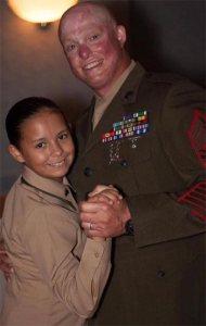 Isabella and MSgt Scott Blaine (courtesy of Webster PR)