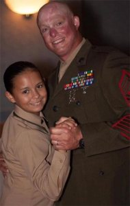 Isabella and MSgt Scott Blaine (courtesy of Webster PR)