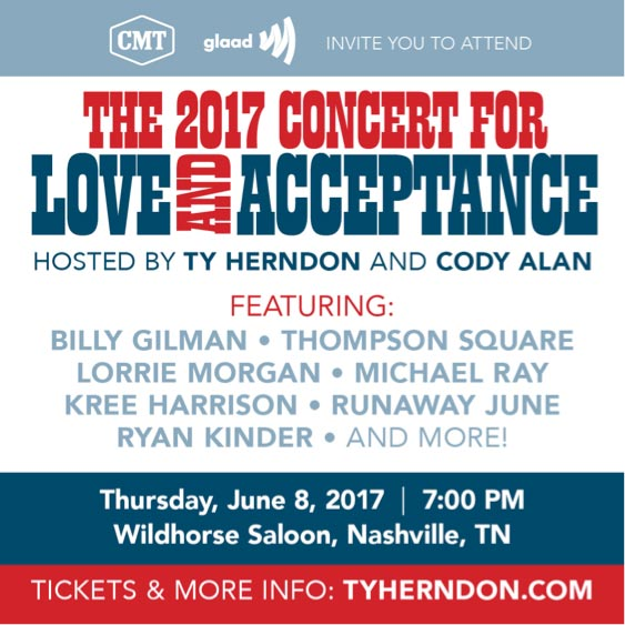 Ty Herndon hosts Concert for Love and Acceptance