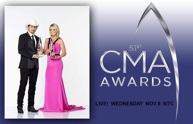 2017 CMA Awards hosted by Brad Paisley & Carrie Underwood