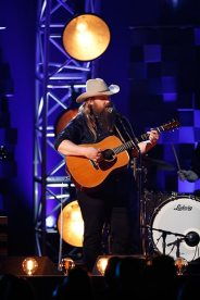 "Chris Stapleton performs ""Broken Halos"" Wednesday during ""The 51st Annual CMA Awards"" and claimed two wins - one for Album of the Year and also for Male Vocalist. Photo Credit: John Russell/CMA"