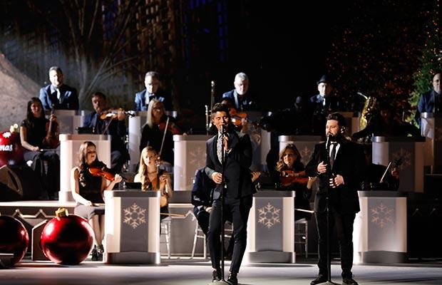 "Dan + Shay perform ""Do You Hear What I Hear?"" during ""CMA Country Christmas,"" airing Monday, Nov. 27 on the ABC Television Network. Dan + Shay return to ""CMA Country Christmas"" to perform for a third year.   Photo Credit: Donn Jones /CMA"