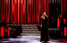 "Trisha Yearwood performs ""Santa Baby"" and ""Hard Candy Christmas"" during ""CMA Country Christmas,"" airing Monday, Nov. 27 on the ABC Television Network. Yearwood returns to ""CMA Country Christmas"" to perform for a second year. Photo Credit: Donn Jones / CMA"