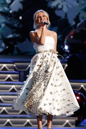 "Kelsea Ballerini performs ""White Christmas"" during ""CMA Country Christmas,"" airing Monday, Nov. 27 on the ABC Television Network. Ballerini also joins host Reba McEntire to perform ""Jingle Bells"" during the special. Ballerini returns to ""CMA Country Christmas"" to perform for a third year. Photo Credit: Donn Jones / CMA"
