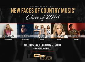 Performers Announced For CRS 2018 New Faces of Country Music® Show